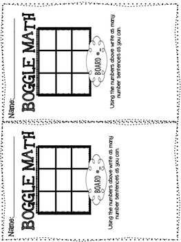 Primary Chevron BOGGLE Math by Brandy Withers at Firstie