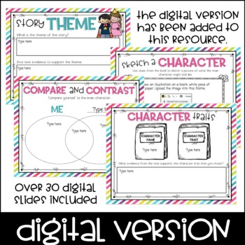 Book Club Graphic Organizers for Any Fiction Text by Not
