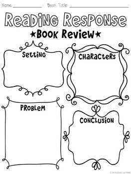 Bookworm Craftivity & Reading Response Printables by All