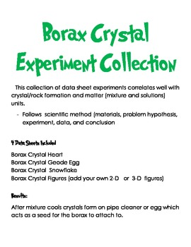 borax crystal diagram v shaped valley crystals teaching resources teachers pay experiment data sheet collection