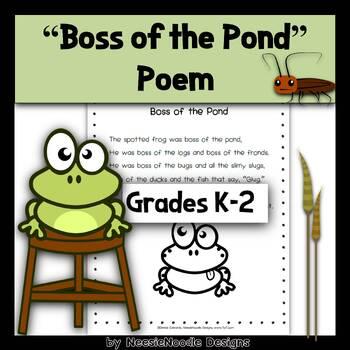 Boss of the Pond Short Vowel Poem Poetry by NeesieNoodle