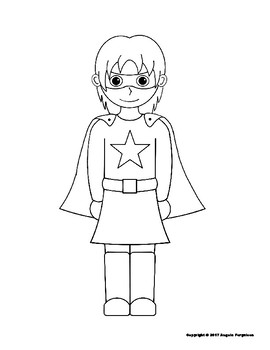 Boy and Girl Superhero Coloring Pages by Super Learning