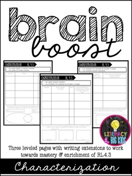 Brain Boost: Differentiated Sheets for Characterization