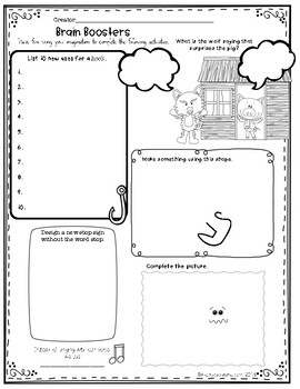 Brain Boosters: Creative Thinking Activities by Gina