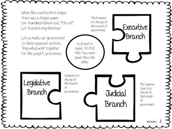 Branches of Government Second Grade Social Studies Unit by