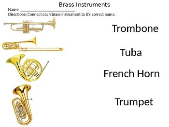 Brass Instruments interactive activities by La La Music  TpT