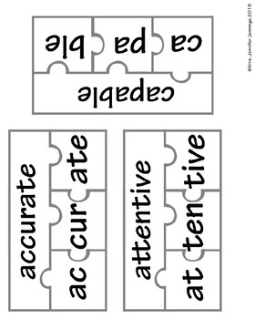 Breaking Down Multi-Syllable Words Phonics Activities by