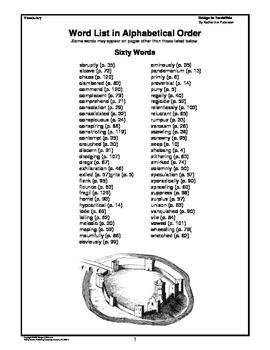 Bridge to Terabithia Vocabulary Study by Margaret Whisnant