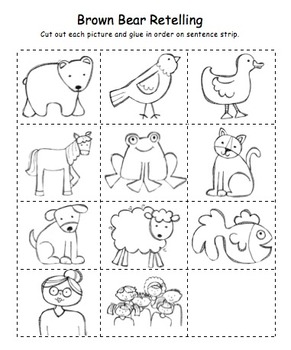 Brown Bear Sequencing by Adventures of a Classroom Teacher