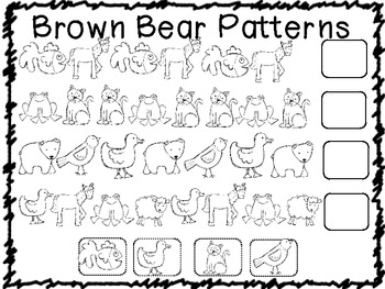 Brown Bear Math Pack Common Core Activities (10 centers