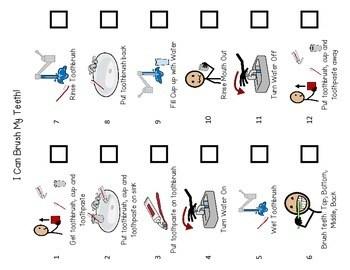 Brushing Teeth- Flip Book & Visual Schedule by Vanessa