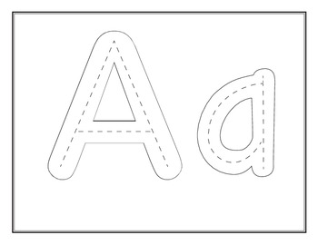 Bubble Alphabet with dotted lines inside by CrazyForFirst