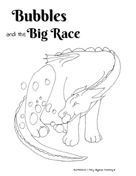 Bubbles and the Big Race Free Coloring Pages by Sillygeese