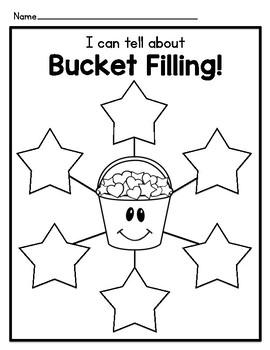 Bucket Filler Graphic Organizers and Writing Templates by