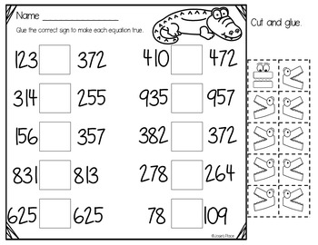 Buggy Math! Place Value, Comparing Numbers,& No Prep Dice