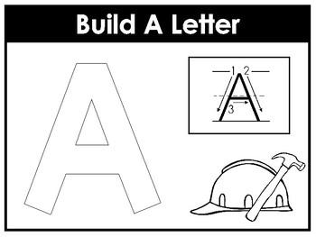 Build A Letter Worksheets. Preschool-Kindergarten Phonics