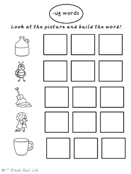 Short Vowel Activity / Word Mats Build-a-Word by 1st Grade