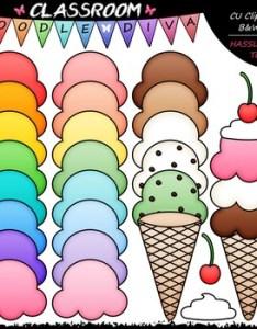 Build an ice cream cone clip art    set also printable teaching resources teachers pay rh teacherspayteachers