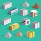 Build six 3D shapes