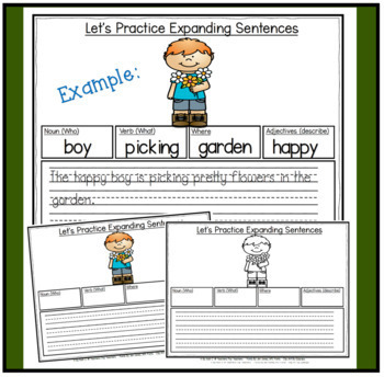 Expanding Sentences By Adding Adjectives Worksheets For