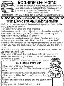 Parent Handouts for Preschool, Pre-K, and Kindergarten by