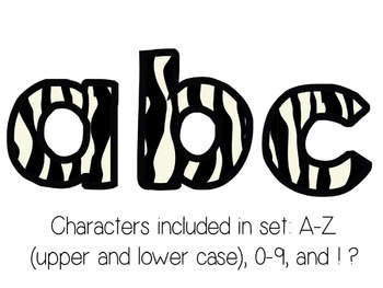Bulletin Board Letters: Basic Zebra Print (Classroom Decor