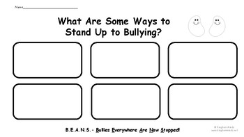 Bully Beans Social Skills Activities about Bulliying by