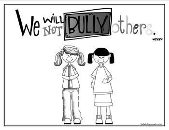 Bullying Poster & Coloring Page Free Download by The