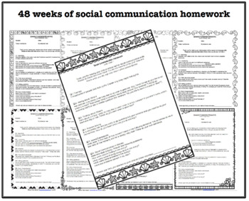 12 months of Speech, Language and Social Homework by Super