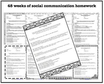 Bundle: 12 months of Speech, Language and Social Homework