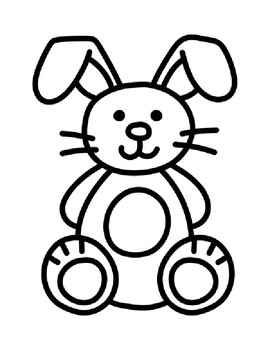 Bunny Template Bunny Coloring Page Bunny Outline Bunny