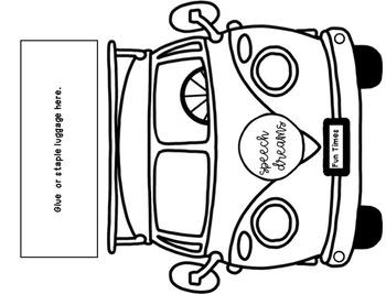 Bus Speech Therapy Craft {articulation language craftivity