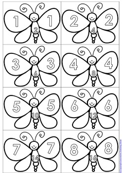Butterfly Doubles Math Game and Activities Bundle by