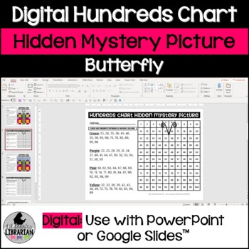 Butterfly Hundreds Chart Picture Activity for Spring and