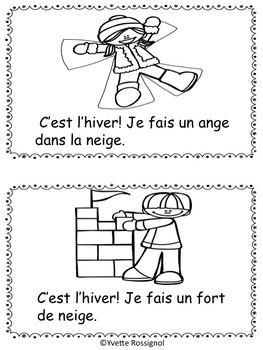 Mini Livre à Imprimer Gratuit : livre, imprimer, gratuit, Petit, Livre, GRATUIT, L'hiver!, L'hiver, Français, French, Winter