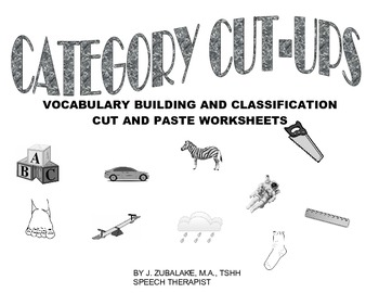CATEGORY CUT-UPS :Vocabulary Building and Classification