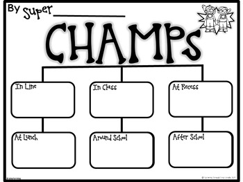 CHAMPS Behavior Classroom Management by Fluttering Through