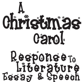 A CHRISTMAS CAROL Essay Prompts & Grading Rubrics by