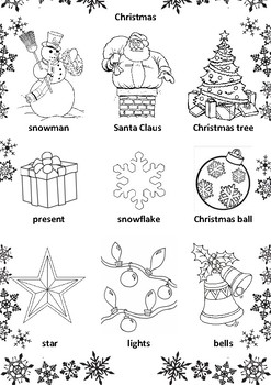 CHRISTMAS & NEW YEAR ACTIVITIES. CHRISTMAS COLOURING PAGES