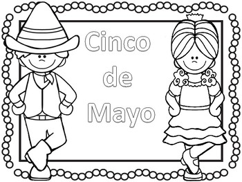 CINCO DE MAYO- Coloring pages and games by Teaching Kiddos