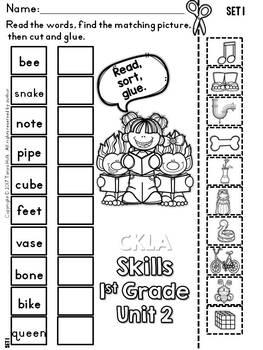 CKLA 1st Grade Skills Unit 2 Long Vowel Sorting Activities