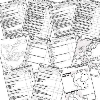 COLD WAR Mapping Activity and Research Graphic Organizer