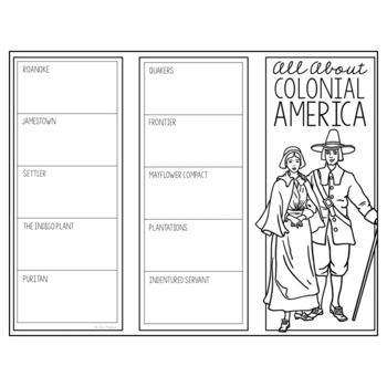 COLONIAL AMERICA Research Brochure Template American