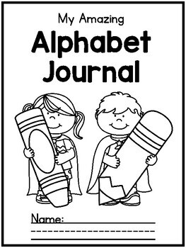 {CUTE} Letter / alphabet journal with poems, sentences