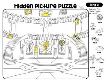CVC & CVCe Hidden Picture Puzzles by et cetera Primary