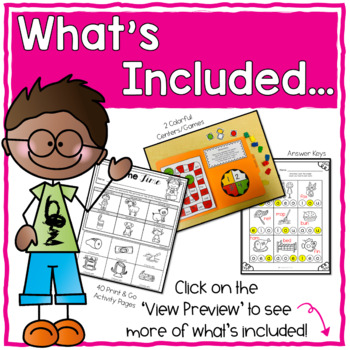 CVC Short Vowel Activities (mixed vowel review) by