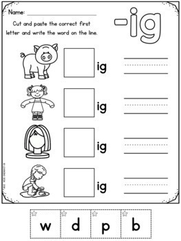CVC Words Worksheets-Short Vowels-Distance Learning Packet
