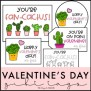 Cactus Valentines Valentine S Day Gift Tags Student