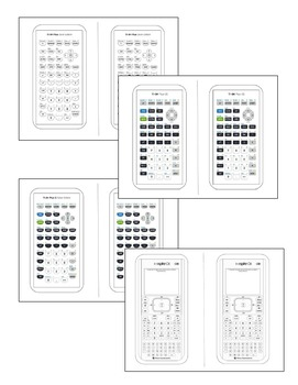 Calculator Faceplates for Interactive Notebooks by Jean
