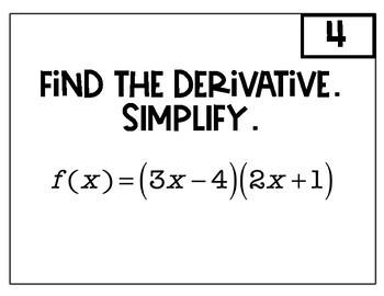 Calculus Beginning Derivatives Speed Dating by Teaching